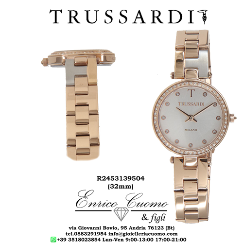 Orologio TRUSSARDI R24531395 T-SPARKLING color oro rosa da donna new model woman watch 04 8033288881919